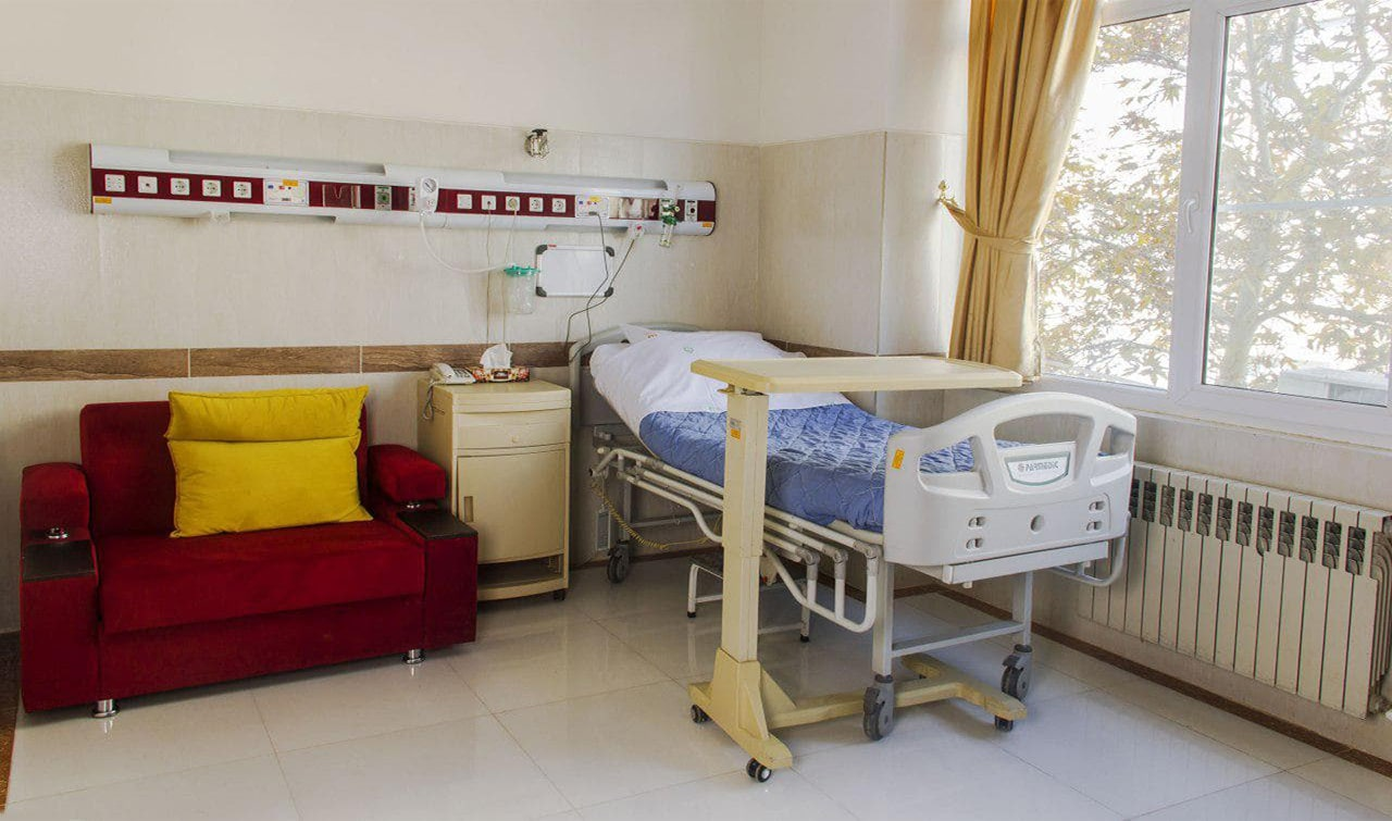 Patient's private room at Mostafa Khomeini Hospital